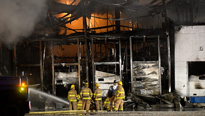 Firefighters battled a multi-alarm blaze at Buffalo Farms Freezer and Cold Storage on the 200 block of Pine Road in Hammonton. The fire started at around 9 p.m. on Thursday, May 11.