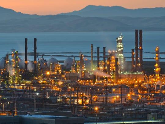 San Francisco Bay's Chevron refinery in Richmond.