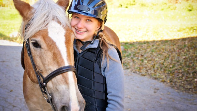 Girl Scouts and friends (girls in kindergarten through 12th grade who are interested in joining) are invited to a recruitment event to learn about horses and to do some horseback riding.