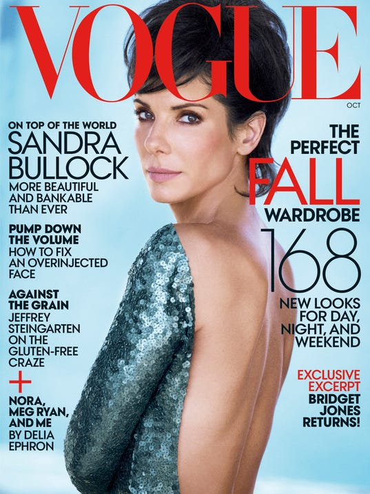 Sandra Bullock is on cover of October 'Vogue.' (Photo: Peter Lindbergh