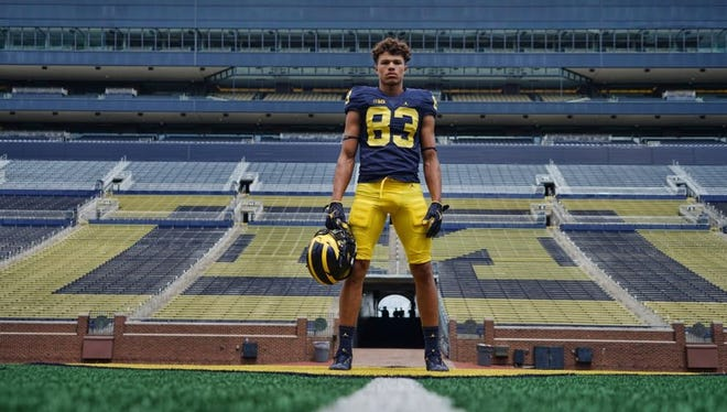 Erick All, a tight end from Ohio, committed to Michigan's class of 2019.