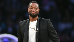 Miami Heat player Dwyane Wade in attendance during