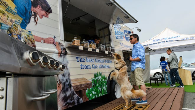 Milo's Kitchen's Treat Truck will be at Canine Corner today at 2 p.m.