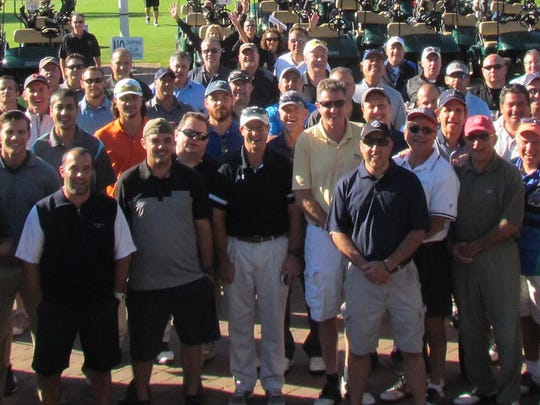 Golfers gather before a recent Duke Classic Golf Outing