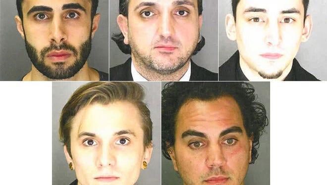 Top row from left: Andrew Zuhrab, Danny Jamil, David Carbone. Bottom row from left: David Pando, Ryan Masters.