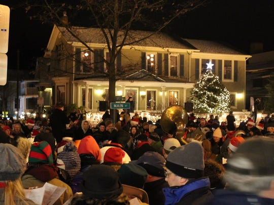 The East Aurora Carolcade is an annual event featuring thousands of carolers lining up on Main Street.