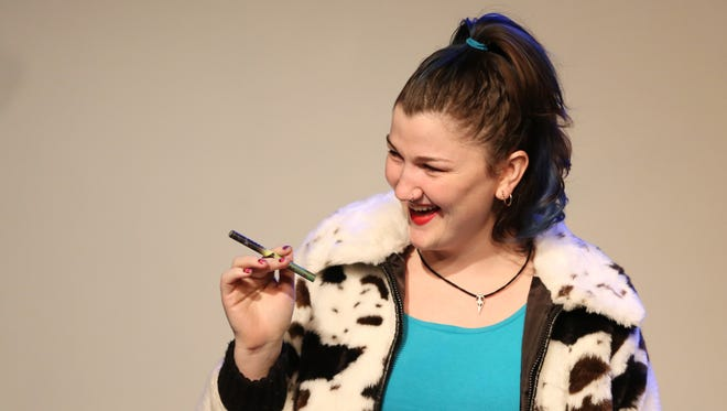 """Ruth Ames rehearses a scene from """"The Nightmare Before Christmas"""" on Monday, Nov. 21, 2016, at Verona Studio in downtown Salem."""