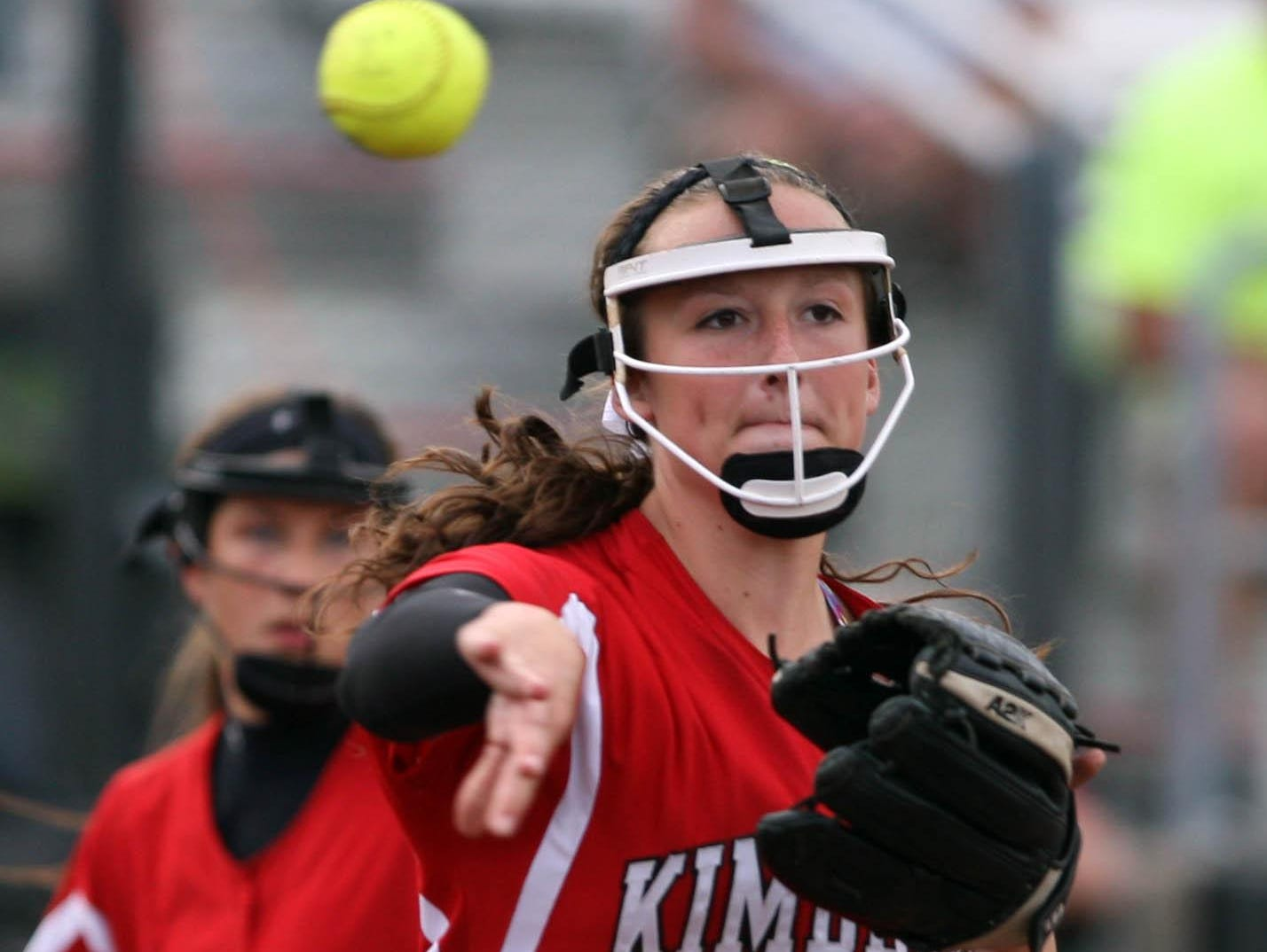 Megan Kleist played second base for the Kimberly Papermakers this season after a shoulder injury kept her off the mound.