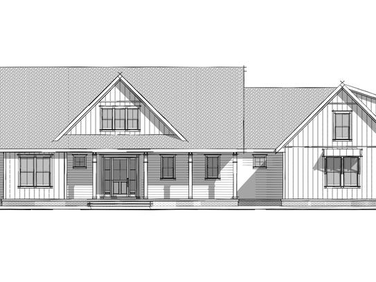A rendering of Brush Creek, the ranch-style home Carbine