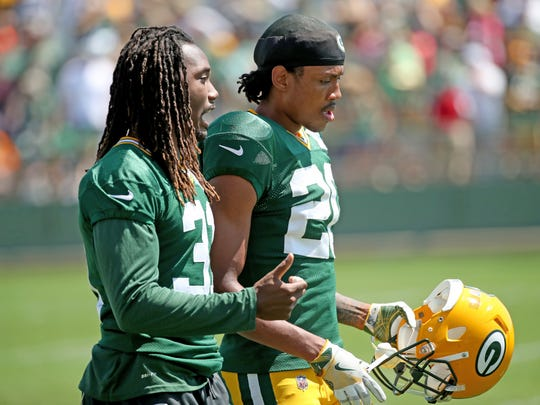 Davon House (left) is a six-year veteran back with