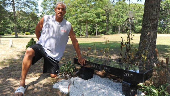 Michael Frye talks about the memorial bench for his daughter, which was recently vandalized.