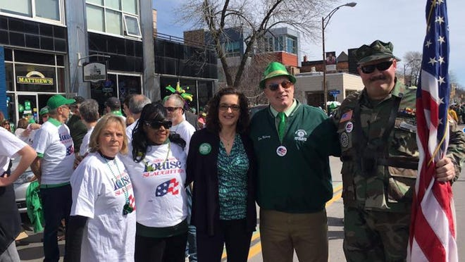 Some marchers from Rochester's St. Patrick's Day Parade 2016.