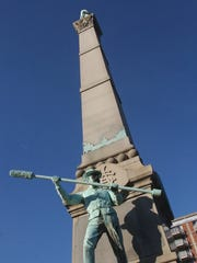 Confederate memorial was erected in 1895. -  -Text: