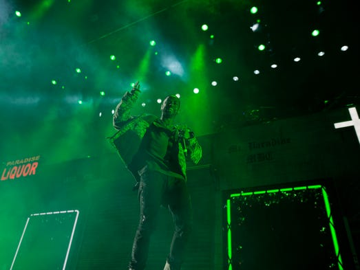 Big Sean performs on Friday, Nov. 6, 2015, at Joe Louis
