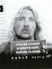 "Booking photo of Allen ""Sherwood"" in 1988 from the Collier County Sheriff's Office."