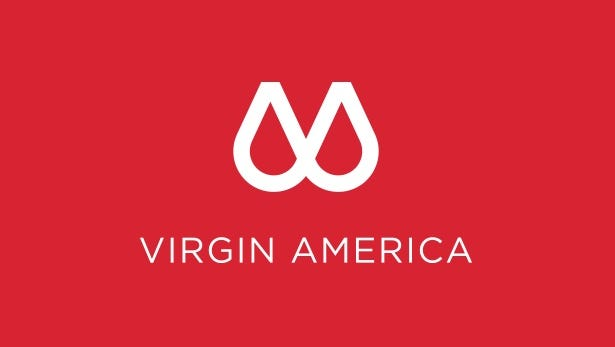 This proposed new logo for Virgin America is likely an April Fool's joke.
