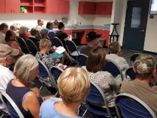 Residents at a town hall meeting in Lehigh Acres on