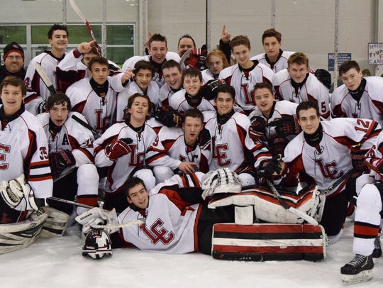 Churchill's hockey team was in a celebratory mood following