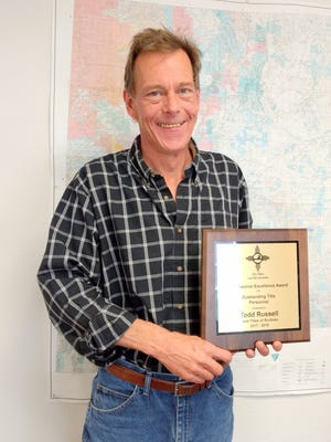 Todd Russell received the professional excellence award.