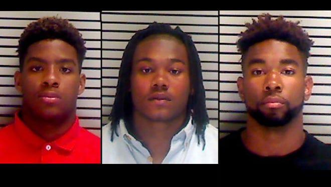 From left: Javonte Ellis, Brenton Spann and Tyler Staples