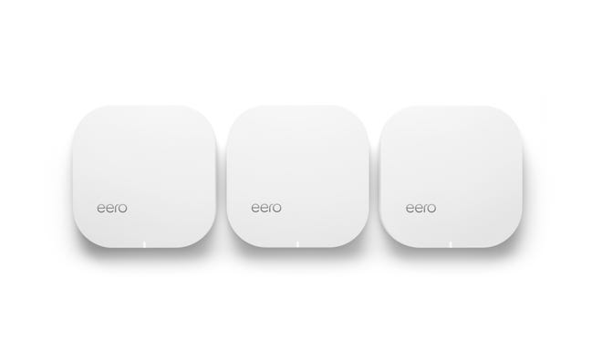 The basic eero system comes  with three devices.