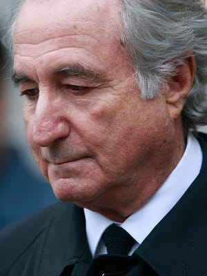 Bernard Madoff leaves a Manhattan federal court in 2009 after a legal hearing.
