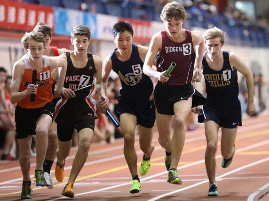 Will Bagaski (3) was part of the success for Ridgewood, The Record Boys Indoor Track team of the Year.
