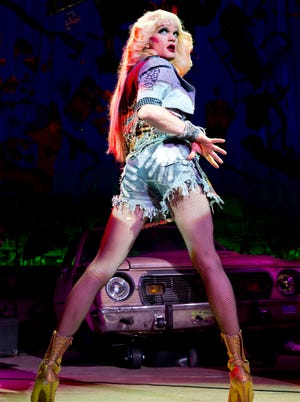 """Neil Patrick Harris in a scene from the Broadway debut of """"Hedwig and the Angry Inch."""""""