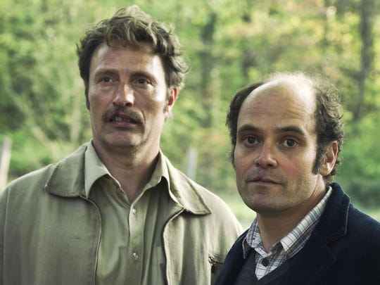 "In ""Men & Chicken,"" Mads Mikkelsen (left) and David Dencik play siblings who learn a secret about their father."
