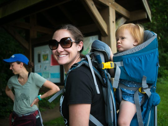 Julie Russ of Wilmington with Hike It Baby Delaware