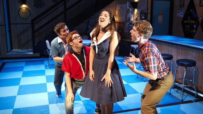 "(From left:) Nick Laughlin, Lee Slobotkin, Cassie Levine and Will Selnick star in ""Life Could Be a Dream"" at Ensemble Theatre Cincinnati. The show celebrates the pop hits of 1960."