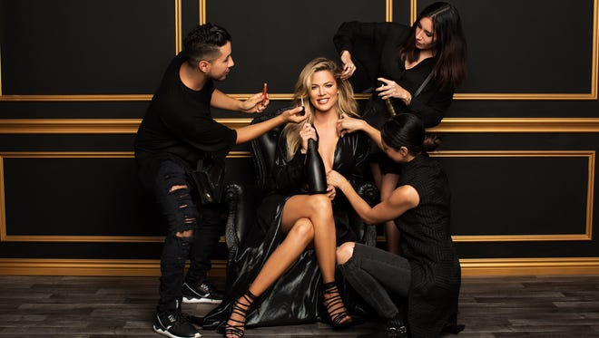 It's primping time for Khloe Kardashian as she preps for her new FYI series, 'Kocktails with Khloe.'