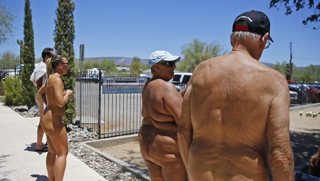 This photo was taken at the Shangri La Ranch nudist resort in New River, Arizona, in 2016.