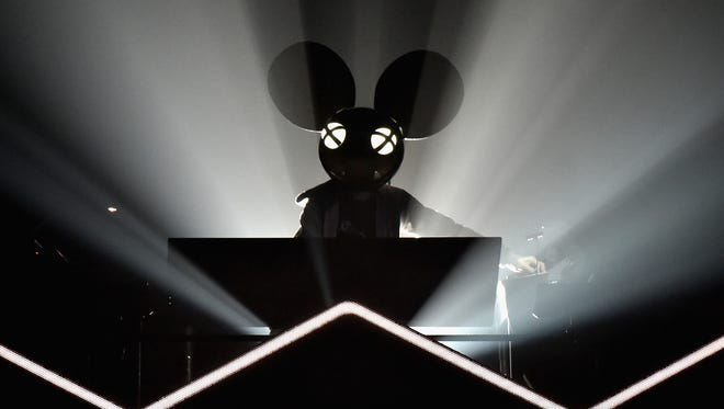 Deadmau5 performs on March 31, 2017, in New York City.  (Photo by Theo Wargo/Getty Images)
