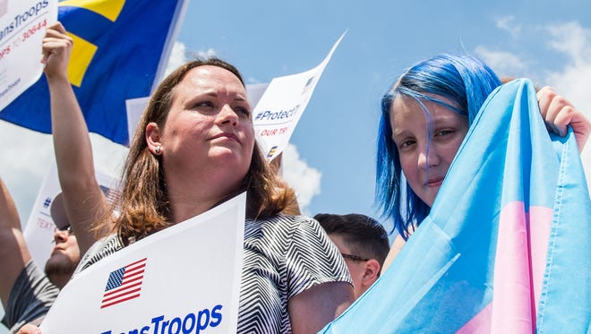 Protest outside the U.S. Capitol on July 26, 2017.