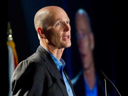 In this May 16, 2012, file photo Gov. Rick Scott speaks during a public event in Fort Lauderdale.