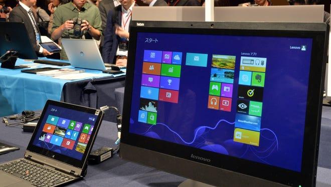 Computers displaying Windows 8.1.