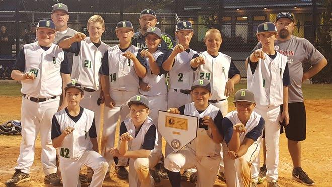 The Carolina Bandits 12 and under baseball team.