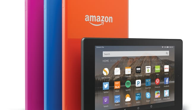 Amazon Fire 8 tablets.