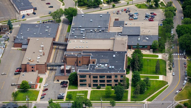 An aerial photo of Technical High School taken in June 2015.