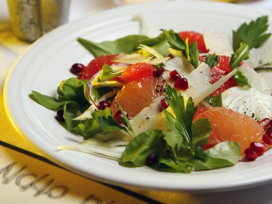 A fresh fennel, parsley, pink grapefruit and arugula salad from Rancho Pinot in Scottsdale.