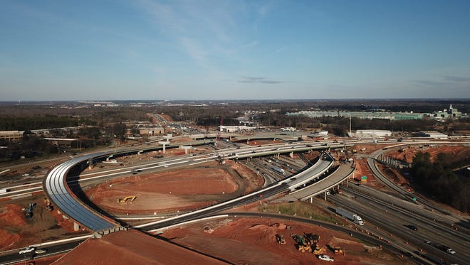 I-85-I-385 Gateway project on Friday, February 9, 2018.