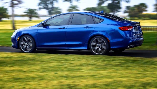 Chrysler's redesigned 2015 200 sedan.