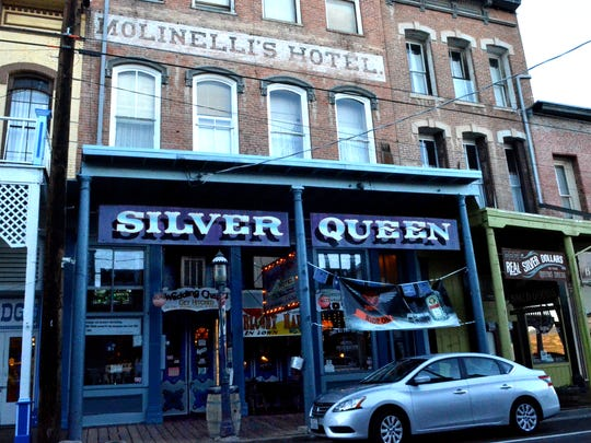 A view of the outside of the Silver Queen Hotel & Wedding Chapel taken on Oct. 21 in Virginia City.