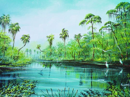 Florida Highwaymen painter R.L. Lewis painted this landscape of the Myakka River at Sarasota.  Special to The News-Press