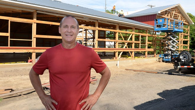 Mike Maher and his shop Highland Feed hopes to move into this brand-new, still under construction 8,000-square-foot shop by November this year. Highland Feed is currently at 217 E. Livingston Road after a fire destroyed the previous location across the street last year.