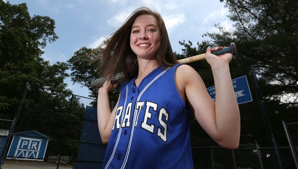 Pearl River pitcher Emily Turilli, Rockland softball