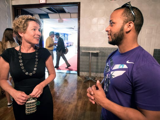 Democratic candidate Chrissy Houlahan took a walking tour of Lebanon, Pa., on Aug. 10, 2017.