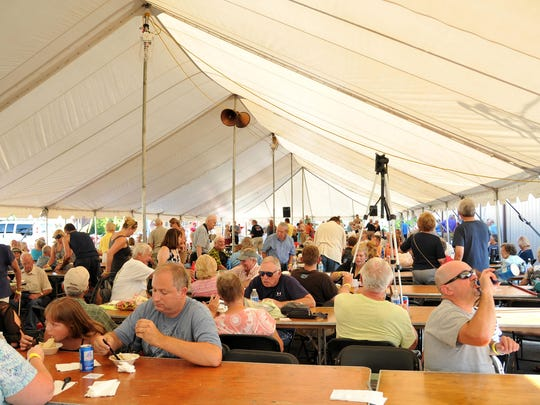 More than 1,500 people had attended the annual Peach, Perch, Pierogi and Polka festival by 6 p.m. Saturday.