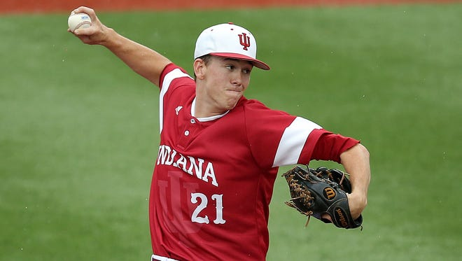 Christian Morris (pictured) gets the nod for Indiana on the mound Saturday night, against defending national champion Vanderbilt.